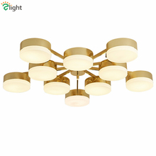 Nordic Plate Gold Metal Led Chandelier Modern Luxury Lustre Ceiling Chandelier Living Room Led Luminaire Chandelier Lighting