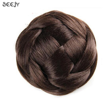 SCCJY Wig Hair Scrunchy Hair Donut Hair Bun Ring To Blend With Own Hair Braider New Women Hairpiece 8 Styles available