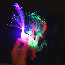 1pc Flashing Peacock Finger Lights Lamps Party Laser Finger Light Up Beam Torch