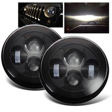 Promotion! 1 Pair 7 Inch 40W H4 LED Headlight Car Auto Light Daymaker Projector For Jeep Wrangler Harley Davidson Motorcycle