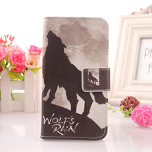 AIYINGE Colored Painting Cell Phone Shell Protection Cover Book-Style Card Holder Flip PU Leather Case For THL 5000