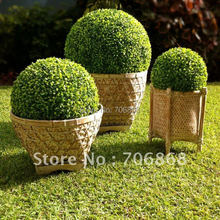 50cm diameter Free shipping artificial plastic boxwood ball grass ball ANTI-UV for indoor & outdoor decoration 7(China)