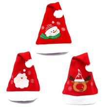 Christmas Party Santa Hat Red And Blue Cap for Santa Claus Costume New Child adult with santa hat(China)