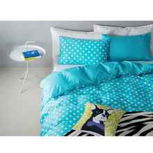 Brand 100%Cotton Dot Colors brief comfotable bedding set bed clothes 4pcs duvet quitl cover bed sheet bed cover pillow cases