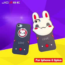 Luxury Cute Cartoon Cell Phone Cases For iphone 6 6S Fashion Anti-knock Cheap Soft Silicone Cover For iphone 6S plus Coque
