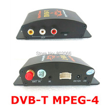 Car DVB-T DVBT MPEG-4 tuner Digital TV receiver box Dual Antenna for European(China)