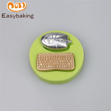 2017 New Model Silicone Mold Mouse and Keyboard Shape Fondant Cake Decoration Tools for Gumpaste Chocolate Candy Sugarpaste Clay(China)