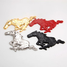 BBQ@FUKA 20 sets Metal Running Horse Badge Front Grille Car sticker Decal Emblem For Ford Mustang(China)