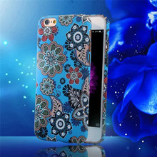New Fashion luminous Retro Flower Coffee Shop Wood Style Ultra-thin Matte Plastic Phone Cases For iPhone 5 5S 6 6s plus