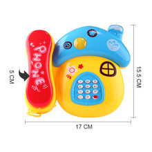 2017 Baby Music Light Educational Toys Cartoon Smile Phone Developmental Kids Indoor Home Toy Gift Pretend Telephone Toys
