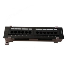 12 Ports UTP Cat 5e Unshield Network Patch Panel 1U Height Wall Mounted Fluke Passed