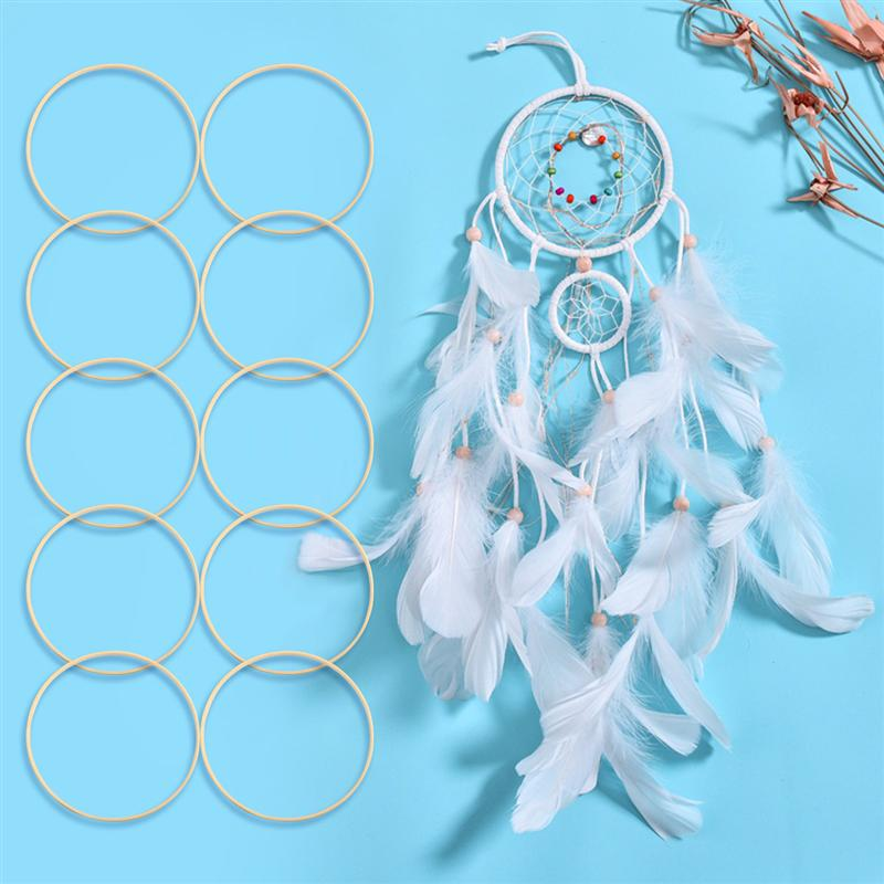 Metal Ring Hoops For Craft Dream Catcher Butterfly Circle Ring Feather Sightly