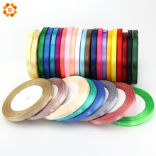 22M/Lot 18Color 6MM Pretty Silk Satin Ribbon Wedding Party Decoration Invitation Card Gift Wrapping Scrapbooking Supplies Riband