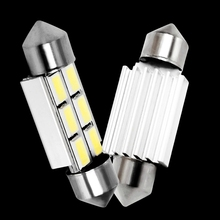 1pc 36mm C5W C10W C3W SV8.5 6 led 5630 smd Festoon CANBUS NO Error Car Licence Plate Light Auto Dome lamps Reading Lights 12V(China)