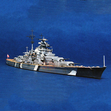 1/700 trumpet hand World War II German Navy Bismarck battleship Alloy Warship model Military model boat kids toys Assembled toy