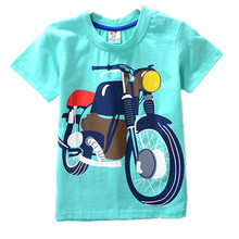 summer cotton casual t-shirts children fashion short-sleeved tee good quality breathable big boys tops BRAND t shirt