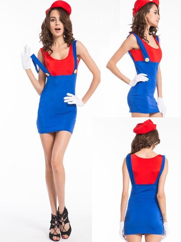 593 super mario ladies costume