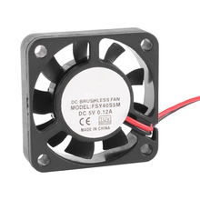 PROMOTION! 40mm x 10mm 0.12A 2Pin 5V DC Brushless Sleeve Bearing Cooling Fan(China)