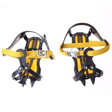 Adjustable Altitude Slip-resistant Strong Ice Crampons Ski Snow Crampons Shoes Snow Walker for Climbing Walking Hiking