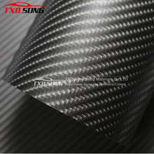 Whole Roll selling Grey 4D Carbon fiber with air free bubbles 4D carbon vinyl wrap for car body decoration 1.52*30m/Roll(China)