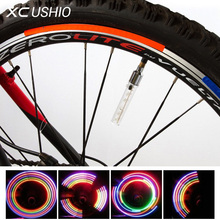 5 LED Flash Light Mountain Bike Bicycle Motorcycle Tyre Tire Wheel Valve Cap Spoke Lamp Colorful Light Bicycle Accessories(China)