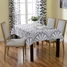 Table Cloths for Wedding White Gray Tablecloth Party Table Cloth Cover Rectangular Printed Table Cover Home Textiles