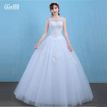 Buy vestido de noiva princesa luxo White Wedding Gowns Long 2018 Sexy Wedding Dresses Formal Ivory Lace-Up Ball Gown Bridal Dress for $95.20 in AliExpress store