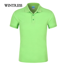 WINTRESS 2018 Summer Color Men Polo Shirt Top Short Sleeve Turn-Down Collar Unisex Camisa Polo Shirt Can Custom Print Logo(China)