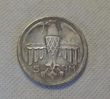 Type #3_1935 German 5 R.M WW2 Commemorative COIN COPY FREE SHIPPING