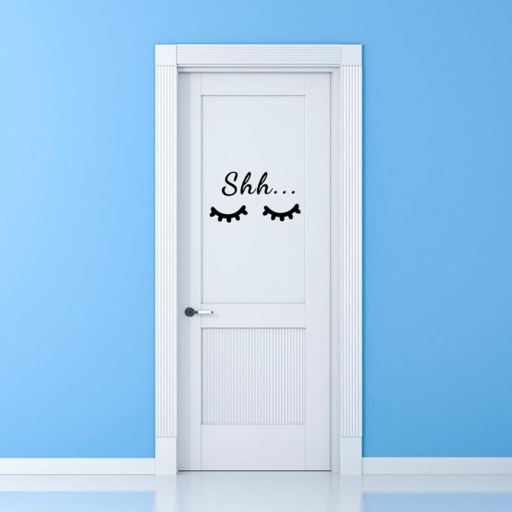 HTB1oyosdRHH8KJjy0Fbq6AqlpXav Quote Sleep Eyelash Art Wall Decal for Kids Room
