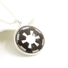 120pcs/lot Wholesale Newly designed hot movie star wars symbol Pendant Necklace Men and Women's Jewellery Accessories(China)