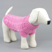 Cute Pet Dog Clothes Sweater Knitted Warm Large Small Knitwear Outdoor Plain Color Puppy Coats Jumper