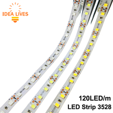 LED Strip 3528 / 2835 120 LED/m DC12V Flexible LED Light  White / Warm White / Red / Green / Blue.