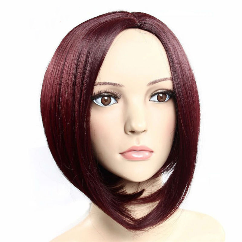 Hot Sale Woomens Wig Natural Short Hair Wigs For Black Women Red Color Bob Cosplay Wigs Natural Synthtic Women Wig Free Shipping<br><br>Aliexpress