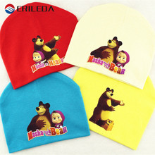 Masha And Bear Cartoon Baby Hats Cotton Kintted Beanie Caps For Baby Boy Girl Autumn Winter Baby Hats Caps Baby Accessories
