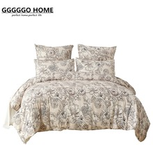 GGGGGO HOME 3/4pcs bedding set microfiber fabric floral duvet cover set king/queen/twin/single/double/Europe/family size bed set