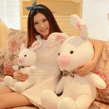 50\80\100\120cm special cute soft anime pig rabbit cuddly sleep plush animal doll hold pillow stuffed toy birthday gift(China)