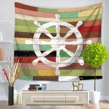 1Pcs Ocean Pattern Wall Tapestry Wall Hanging Carpet Decorative Tablecloth Polyester Beach Towel Bedspread Home Decor 59039(China)