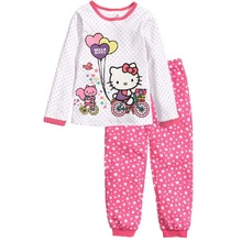 Kitty Children Pajamas Sets Girls Clothing Suit Sleepwear Night Robe nightdress kid pijama housecoat household clothes WQL