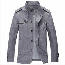 VXO Winter Wool Coat Men Slim Fit Jacket Mens Outerwear Warm Male Casual Jackets Overcoat Woolen Pea Coat Plus Size(China)