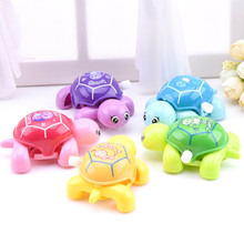 Cute Cartoon Animal Clockwork Tortoise Baby Turtles Educational Toys Infant Crawling Wind Up Toys Kids vintage Toy Random Color(China)