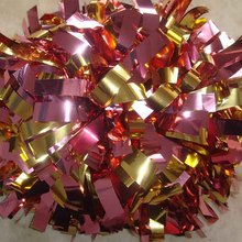 "Custom Color Professional Metallic Cheerleader Pom poms 3/4""x 6"" Baton Handle Competion Game Costume Poms 180g Thick"