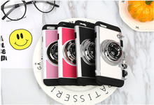 Korean 3D Camera For iPhone X Cases Mobile Phone Back Cover Capa Hard Plastic Soft Shell For iPhone 6 6s Plus 7 8 8 plus 295C(China)
