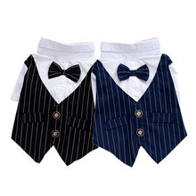 New Pet Dog Coats Puppy Tuxedo Bow Tie Wedding Suit Dog Clothes for Teddy Chihuahua Puppy Party Costumes Pet Apparel 40