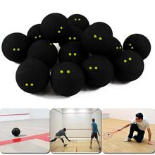 Squash Ball Two-Yellow Dots Low Speed Official Rubber Balls Professional Player