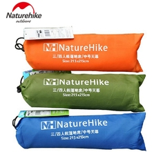 2.15*2.15M Naturehike Canopy Cloth Sun Shelter Beach Shelter Awning Floor Camping Mat Blanket Cushion Footprint Hiking 6 Holes(China)