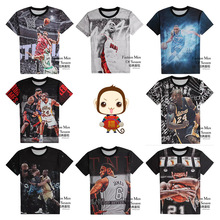 High quality boy t shirt fashion basketball style short sleeve 3d print t shirt boy clothes jacket 11-19 years old(China)