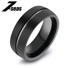 New Arrival Path/Track Men Jewelry Rings Fashion Tungsten Steel Row Black Big Ring For Man Best Male Gift For Anniversary,JM246W