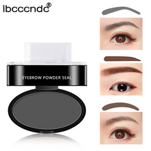 6g Fashion Eyebrow Powder Seal Eyebrow Shadow Set Waterproof Eyebrow Stamp Natural Shape Brow Stamp Powder Palette Delicated