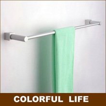 Aluminum-magnesium alloy,  double towel bars,Bath towel,58cm,Not rust,Durable, easy to install,with Hook, Bathroom Hardware